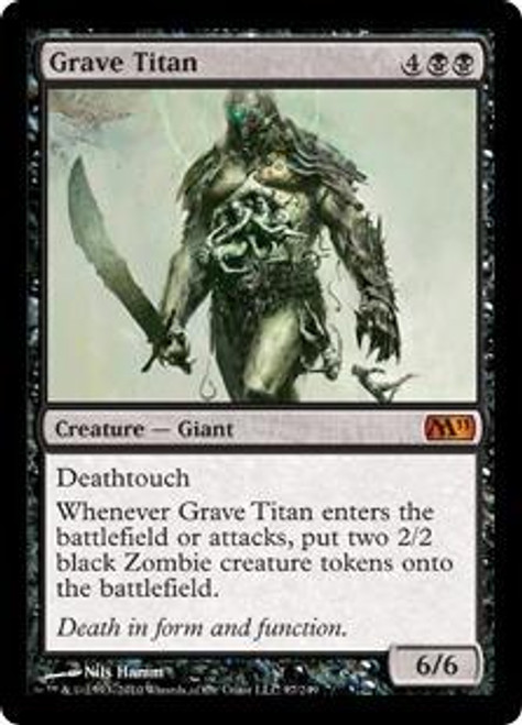 MtG 2011 Core Set Mythic Rare Foil Grave Titan #97