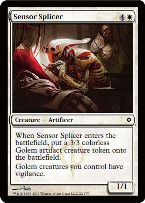 MtG New Phyrexia Common Foil Sensor Splicer #22