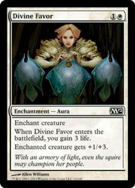 MtG 2012 Core Set Common Foil Divine Favor #14