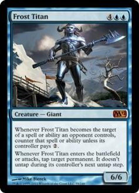 MtG 2012 Core Set Mythic Rare Foil Frost Titan #55