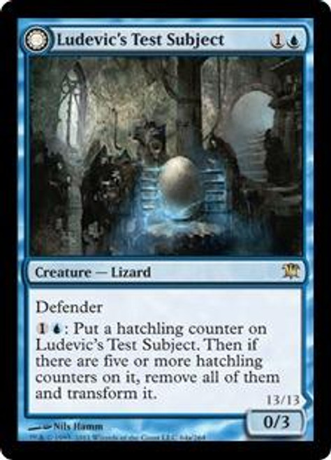 MtG Innistrad Rare Foil Ludevic's Test Subject / Ludevic's Abomination #64