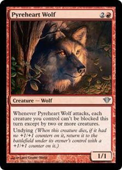 MtG Dark Ascension Uncommon Foil Pyreheart Wolf #101