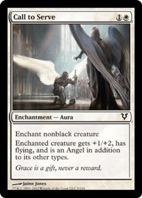 MtG Avacyn Restored Common Foil Call to Serve #9