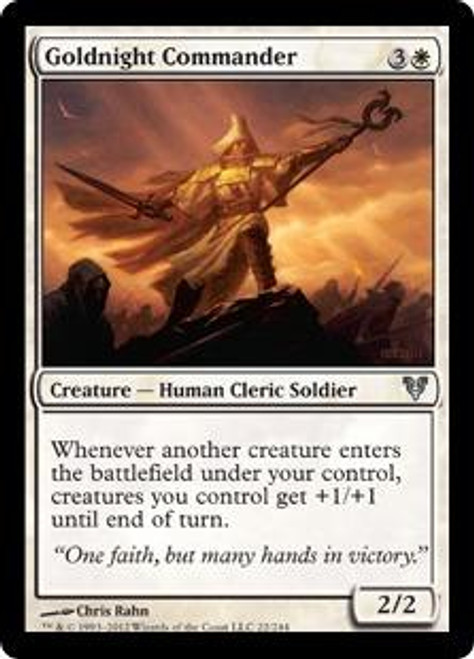 MtG Avacyn Restored Uncommon Foil Goldnight Commander #22