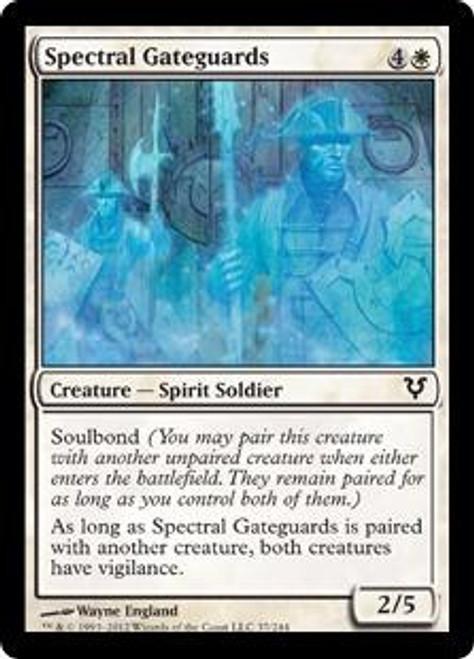 MtG Avacyn Restored Common Foil Spectral Gateguards #37