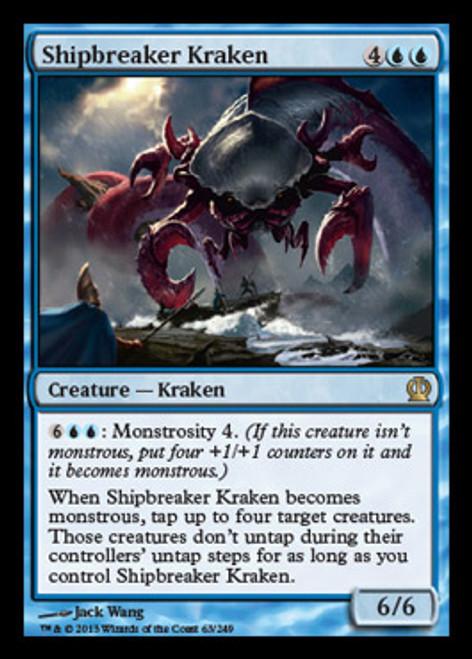 MtG Theros Rare Foil Shipbreaker Kraken #63