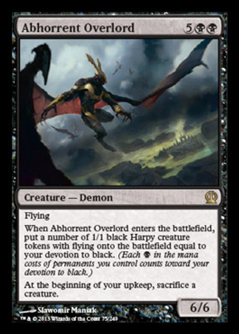 MtG Theros Rare Foil Abhorrent Overlord #75
