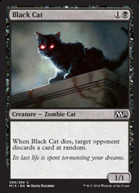 MtG 2015 Core Set Common Foil Black Cat #86