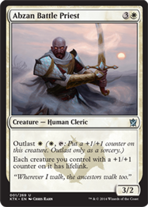MtG Khans of Tarkir Uncommon Foil Abzan Battle Priest #1