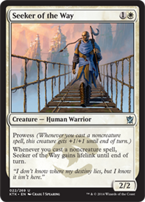 MtG Khans of Tarkir Uncommon Foil Seeker of the Way #22