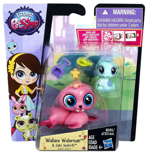 Littlest Pet Shop Pet Pawsabilities Wallace Waterman & Sally Seaforth Figure 2-Pack