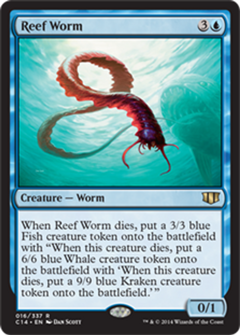 MtG 2014 Commander Rare Reef Worm #16