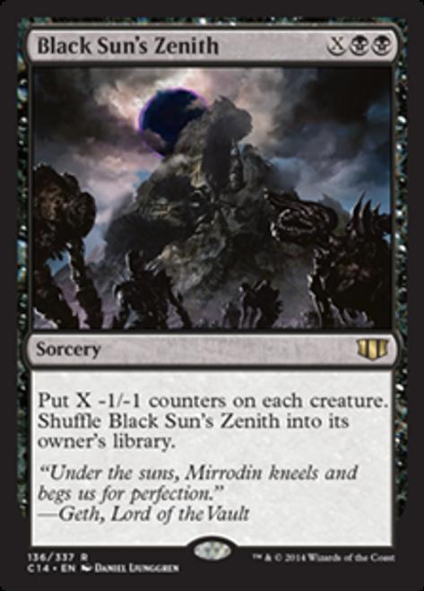MtG 2014 Commander Rare Black Sun's Zenith #136