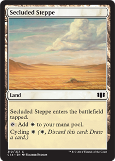 MtG 2014 Commander Common Secluded Steppe #310