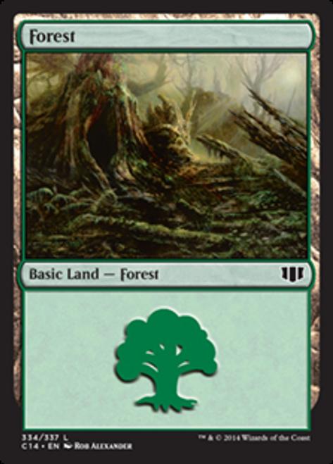 MtG 2014 Commander Land Forest #334