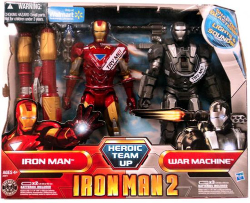 Iron Man 2 Heroic Team Up Exclusive Action Figure Set [Damaged Package]
