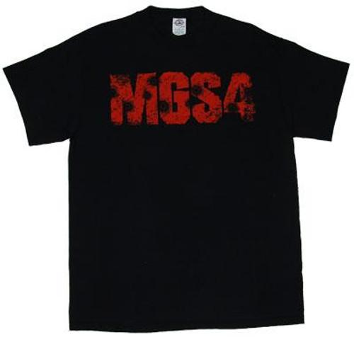 Metal Gear Solid 4 Logo with Bullet Holes T-Shirt [Adult Medium]