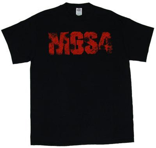 Metal Gear Solid 4 Logo with Bullet Holes T-Shirt [Adult XL]