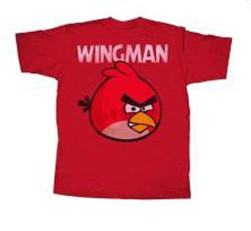 Angry Birds Wingless T-Shirt [Red, Adult Large]