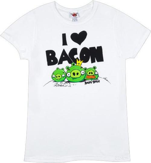Angry Birds I Heart Bacon T-Shirt [Women's Medium]