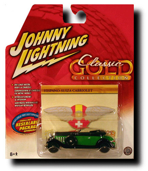 Johnny Lightning Classic Gold Collection Hispano-Suiza Cabriolet Diecast Car [Pearl]