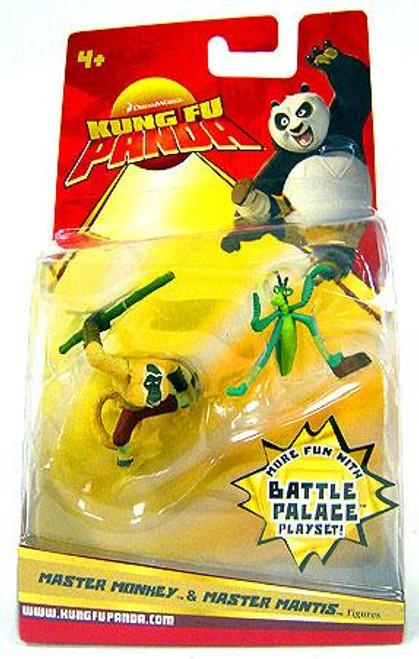 Kung Fu Panda Master Monkey & Master Mantis Mini Figure 2-Pack [Damaged Package]