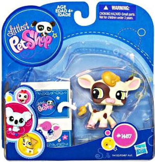 Littlest Pet Shop 2010 Assortment A Series 3 Cow Figure #1457 [Damaged Package]