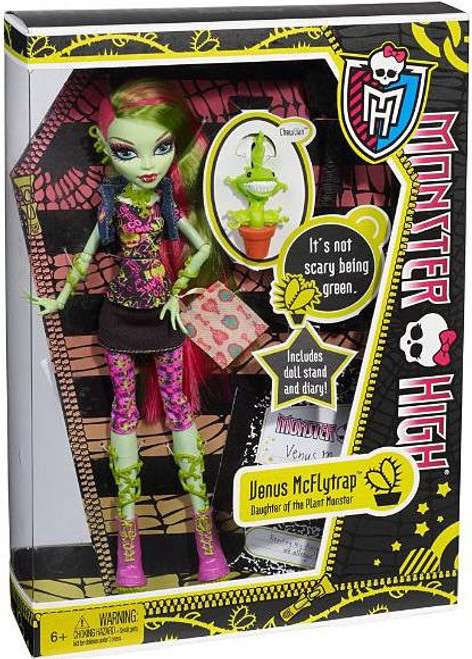 Monster High Venus McFlytrap 10.5-Inch Doll [With Chewlian, Damaged Package]