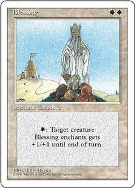 MtG 4th Edition Rare Blessing [Slightly Played]