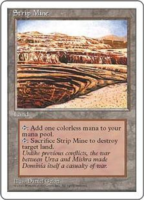 MtG 4th Edition Uncommon Strip Mine [Mildly Played]