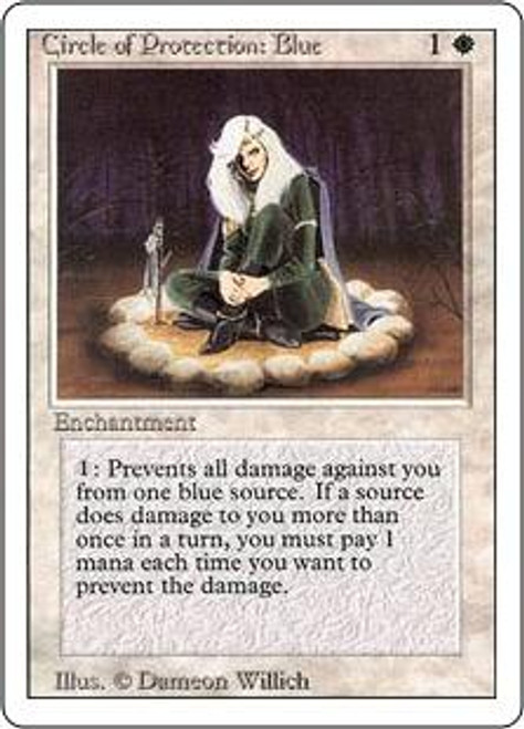 MtG Revised Common Circle of Protection: Blue [Slightly Played]