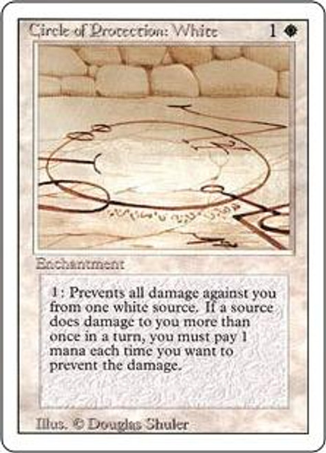 MtG Revised Common Circle of Protection: White [Slightly Played]