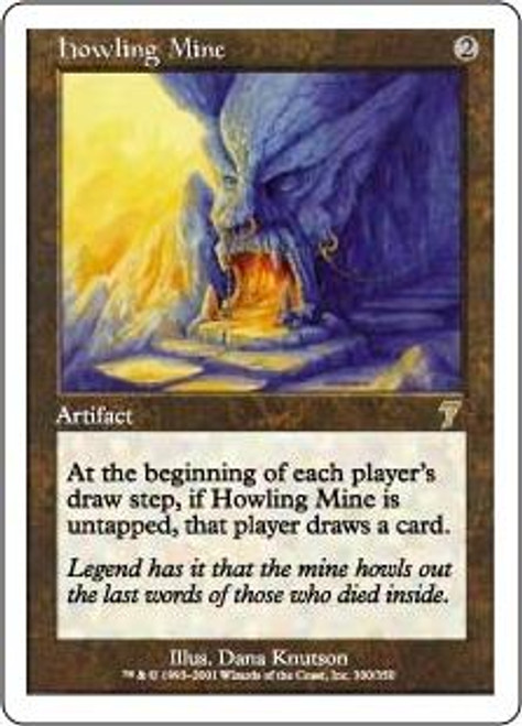MtG 7th Edition Rare Howling Mine #300 [Played]
