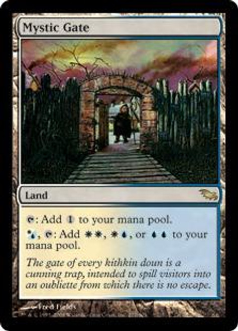 MtG Shadowmoor Rare Mystic Gate #277 [Foil, Shuffle crease top middle] [Played]