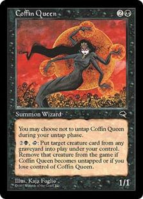 MtG Tempest Rare Coffin Queen [Slightly Played]
