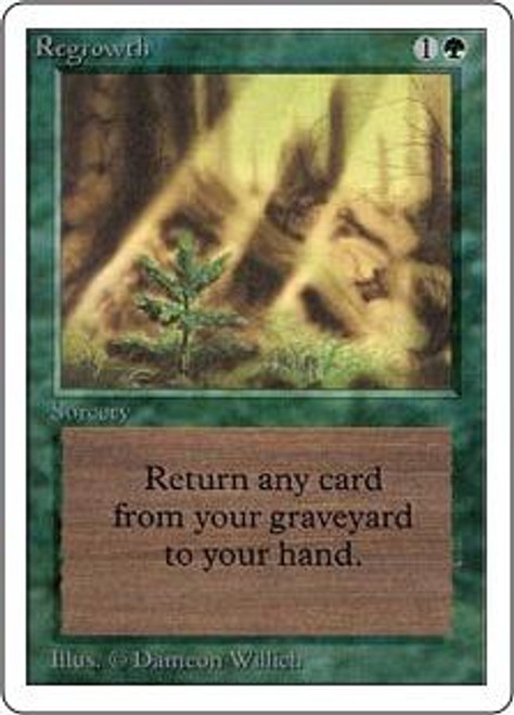 MtG Unlimited Uncommon Regrowth [Slightly Played]