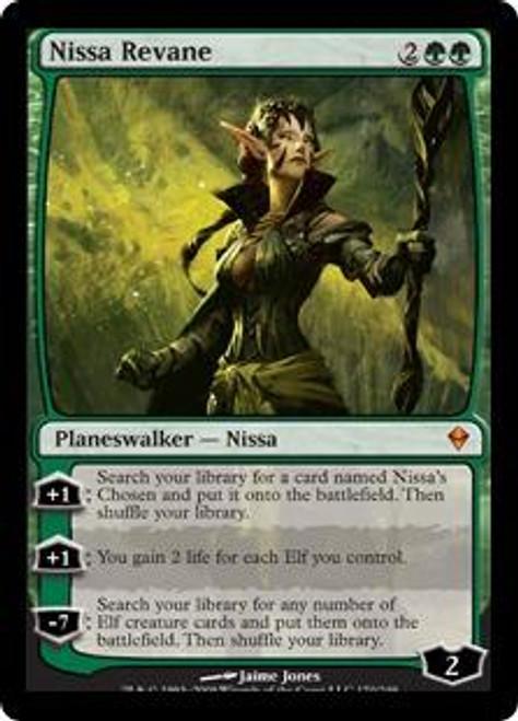 MtG Zendikar Mythic Rare Nissa Revane #170 [Nissa & 4 Nissa's Chosen]