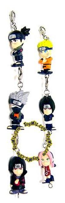 Naruto Glow Set of 6 Mini Figure Keychains