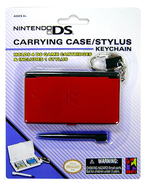 Nintendo DS Carrying Case / Stylus Keychain [Pink]