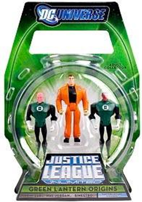 Justice League Unlimited Green Lantern Origins Exclusive Action Figure 3-Pack [Damaged Package]
