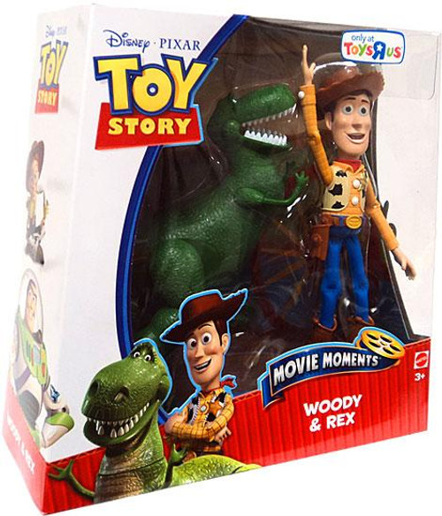 Toy Story Movie Moments Woody & Rex Exclusive Action Figure 2-Pack [Damaged Package]