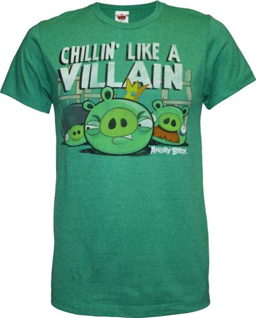 Angry Birds Chillin Like a Villain T-Shirt [Adult XXL]