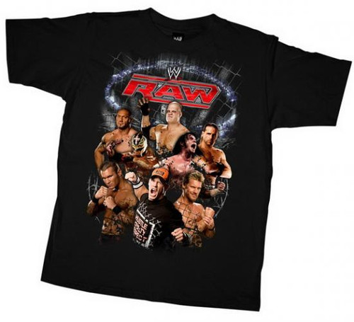 "WWE Wrestling Raw ""Fence"" T-Shirt WWY320 [Youth Medium]"