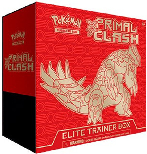 Pokemon Trading Card Game XY Primal Clash Groudon Elite Trainer Box [8 Booster Packs, 65 Card Sleeves, 45 Energy Cards & More]
