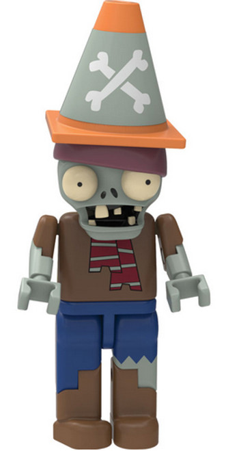 K'NEX Plants vs. Zombies Pirate Conehead Zombie 2-Inch Minifigure [Brown Shirt, Blue Jeans Loose]