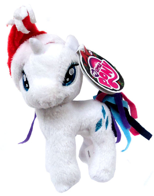 My Little Pony Friendship is Magic Holiday Rarity 5-Inch Plush [With Santa Hat]