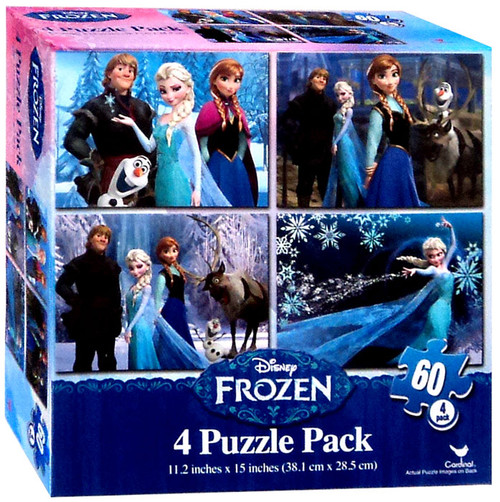 Disney Frozen 4 Puzzle Pack [60 Pieces]