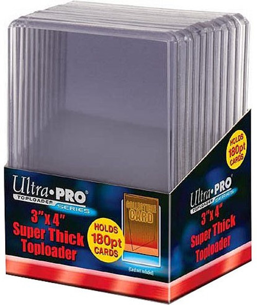 """Ultra Pro Card Supplies 3"""" X 4"""" Super Thick Toploader [10 Count, Holds 180pt. Cards]"""