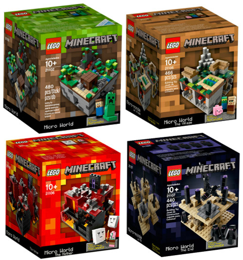 LEGO Minecraft Collection [21102, 21105, 21106, 21107]