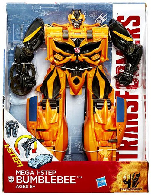 "Transformers Age of Extinction Mega 1-Step Bumblebee 10"" Action Figure"